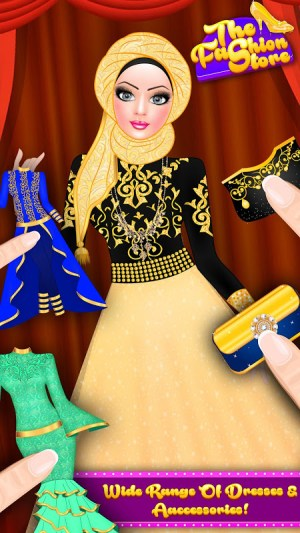Android Hijab Fashion Doll Dress Up Screen 8
