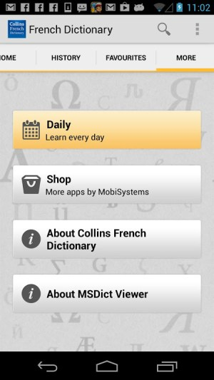 Android Collins French Dictionary Screen 6