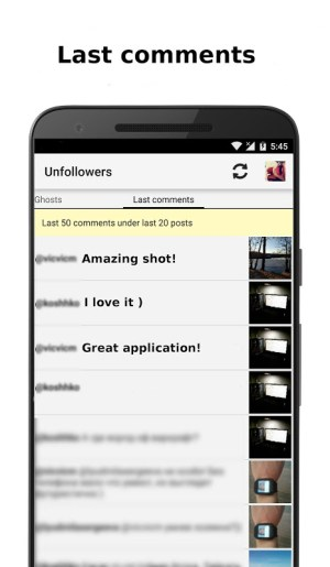 Android Unfollowers for Instagram Screen 5
