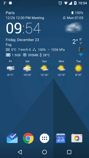 Android Transparent clock weather Pro Screen 4