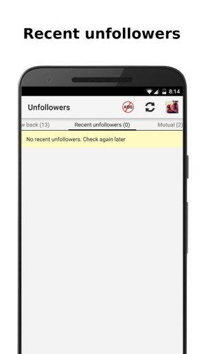 Android Unfollowers for Instagram Screen 2