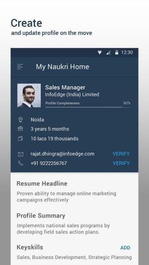 Android Naukri.com Job Search Screen 2