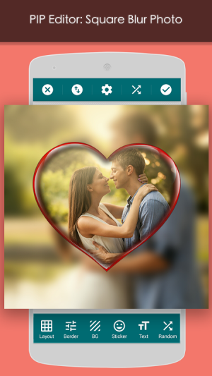 Android PIP Camera: Square Blur Screen 9