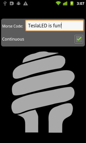 Android TeslaLED Flashlight Donate Screen 1