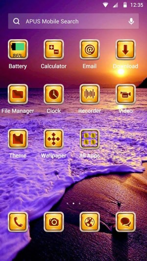 Android The Seabeach Theme Screen 1