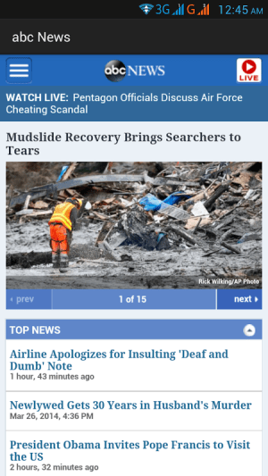 Android US Newspapers and Magazines Screen 2