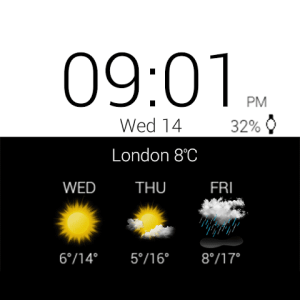 Android Transparent clock weather Pro Screen 23