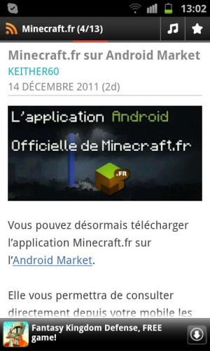 Android News Minecraft.fr Screen 2
