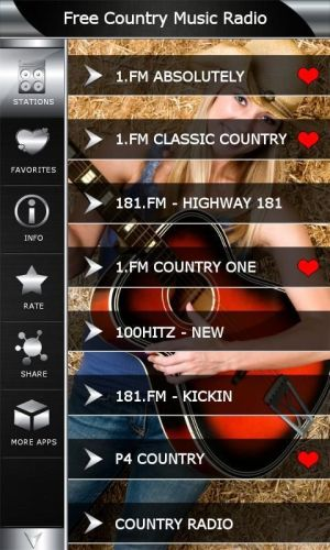 Android Free Country Music Radio Screen 1