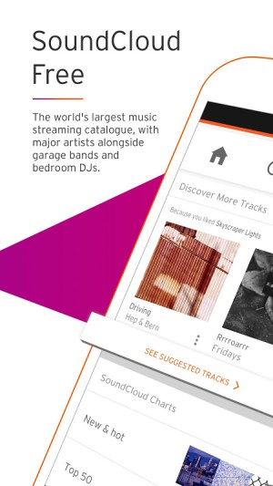 Android SoundCloud - Music & Audio Screen 2