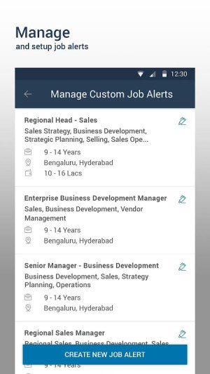 Android Naukri.com Job Search Screen 3
