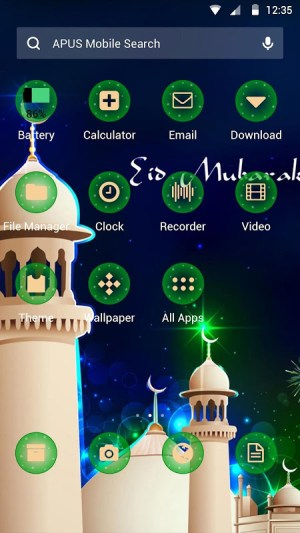 Android Eid Mubarak Theme Screen 1
