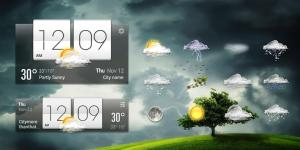 Android weather widget with  wind Screen 1