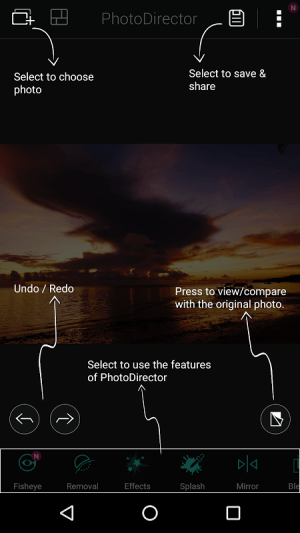 Android PhotoDirector Photo Editor App Screen 10