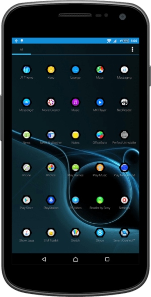 Android Black Crystals Theme Screen 2