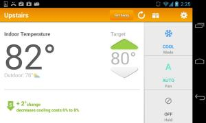 Android EnergyHub Thermostat Screen 3