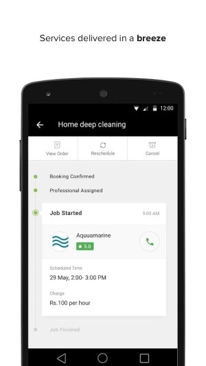 Android UrbanClap - Local Services Screen 2