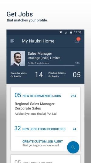 Android Naukri.com Job Search Screen 4