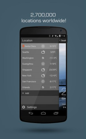 Android MoWeather Screen 6