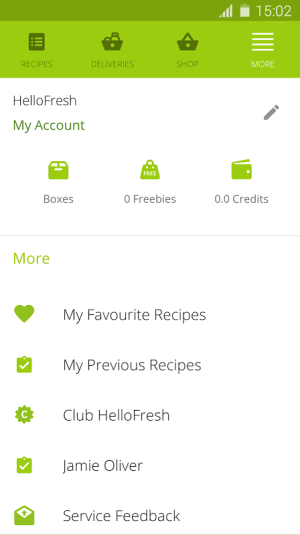 Android HelloFresh - More Than Food Screen 3