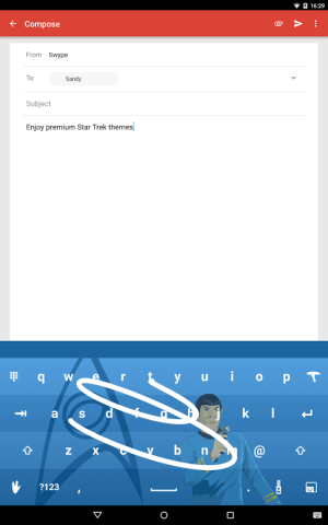 Android Swype Keyboard Screen 7