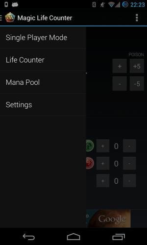 Android Magic Life Counter Screen 3