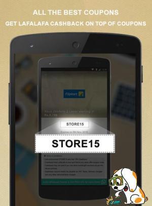 Android LafaLafa Cashback & Coupons Screen 2