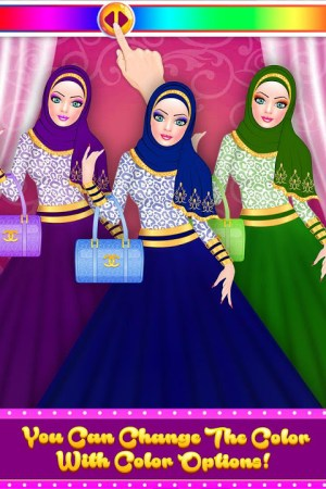 Android Hijab Fashion Doll Dress Up Screen 4