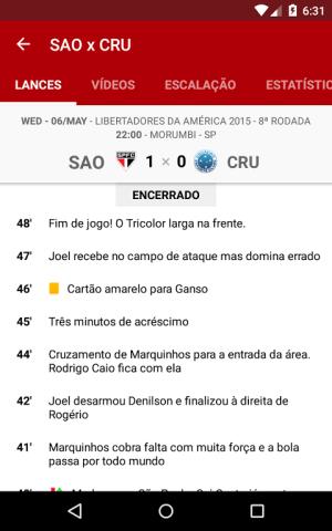 Android São Paulo SporTV Screen 3