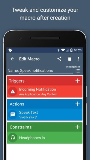 Android MacroDroid - Device Automation Screen 4