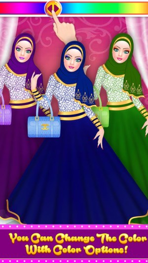 Android Hijab Fashion Doll Dress Up Screen 14