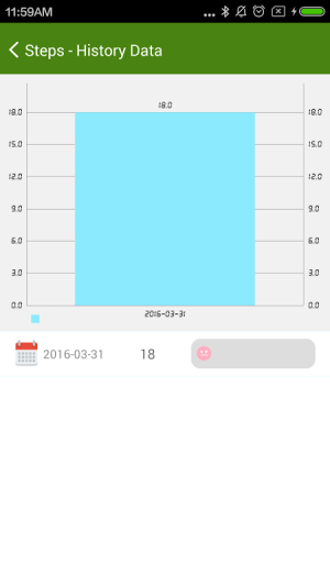 Android 4Free Pedometer Screen 2