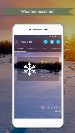 Android Weather Screen 1