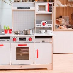 Hape Kitchen Cabinet Hardware Placement 育兒 德國hape木質玩具 媽媽寶寶一起瘋玩的小廚房跟積木們 Angel S 放在檯面上的東西 是這一組廚房有附的配件 盆栽 2 湯鍋 炒鍋 湯匙 鏟子 杯子 杯盤
