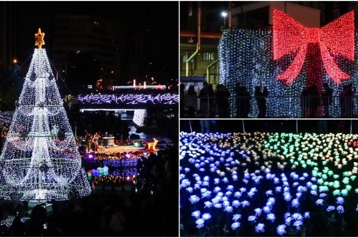 【台中景點】柳川藍帶水岸。全台首座水中聖誕樹!夢幻登場