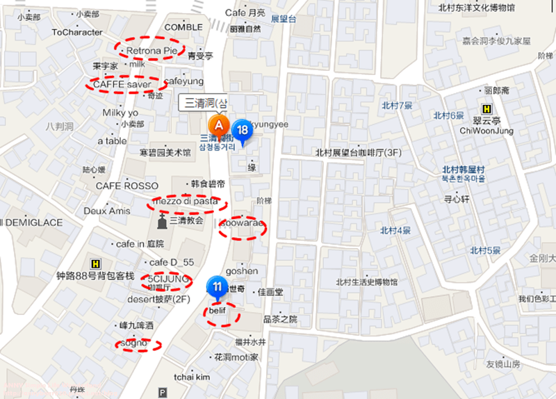 【韓國】三清洞散步 推薦好買必逛地圖 ♥ 安國站/近景福宮&北村 - 高妹。Simple Life Wonderland