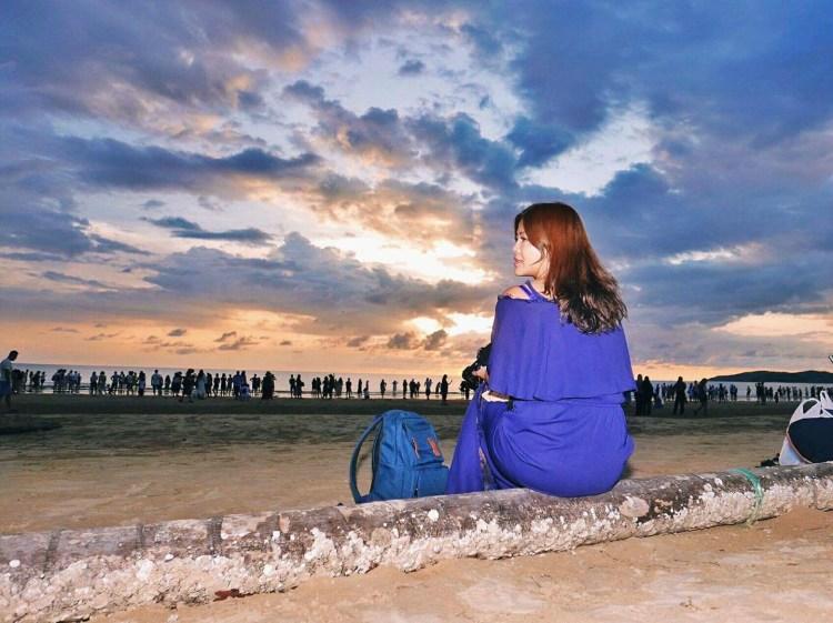 馬來西亞沙巴景點推薦丹絨亞路海灘夕陽Pantai Tanjung Aru,世界絕美前三大夕陽,散步在沙灘欣賞絕美日落。