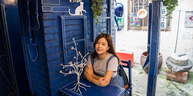 彰化和美伯公廟口麵線糊   隱藏版小藍晒圖,復古風格麵館,好拍又兼具復古童趣!