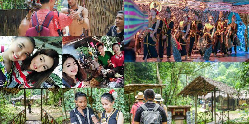 沙巴旅遊馬里馬里文化村Mari-Mari cultural village | 沙巴自由行必訪的原住民村,有吃又有得玩!毛律獵人頭族,體驗馬來原住民文化。