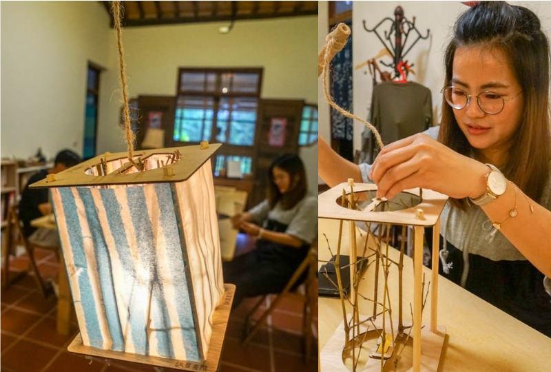 紙農書院   埔里桃米村聚落,一起來體驗手做紙提燈,美觀實用兼具療癒感。