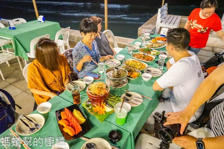 BAAN ITSARA SEAFOOD RESTAURANT HUA HIN 華欣自由之家海鮮餐廳 | 泰國華欣海邊餐廳,美人魚像屹立,料理好吃具水準。