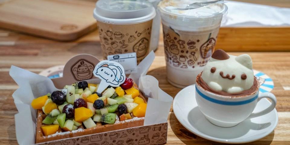 奶泡貓咖啡 | 台中西區咖啡館,立體奶泡貓甜點,整層樓超可愛奶泡貓佈置,適合拍照打卡。