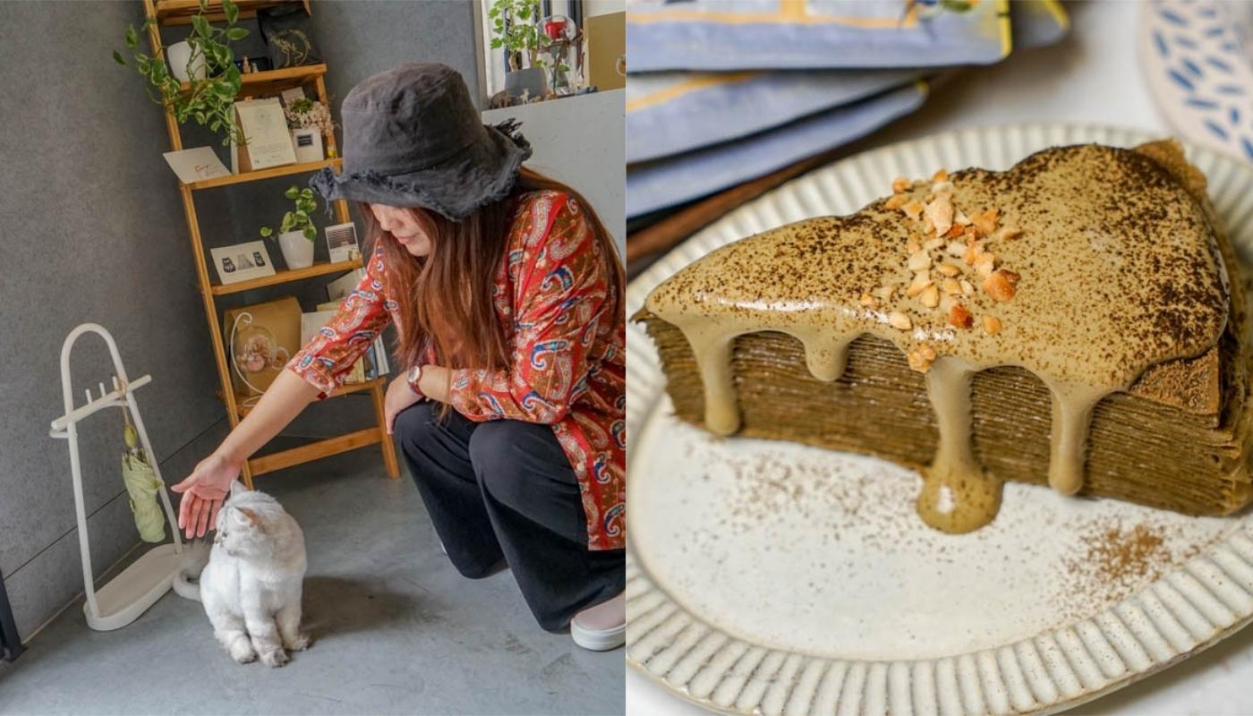 鹿點咖啡糸彔店   社頭清爽風格咖啡館,特色焙茶千層,還有可愛貓咪陪伴。