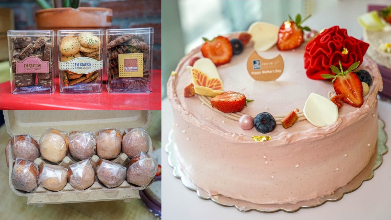 彰化母親節蛋糕推薦,馥漫麵包花園,紅馨皇冠、與妳相芋,蛋糕細緻棉柔口味高雅不甜膩。