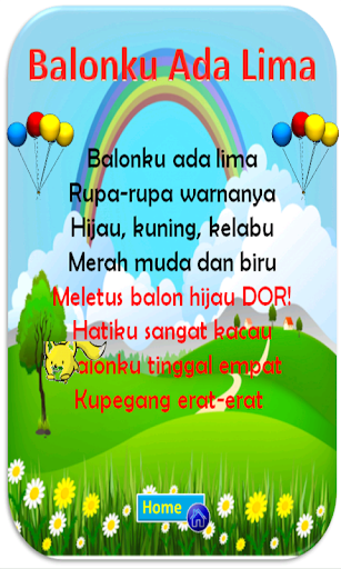 Teks Lagu Balonku Ada Lima : balonku, Download, Indonesia, Android