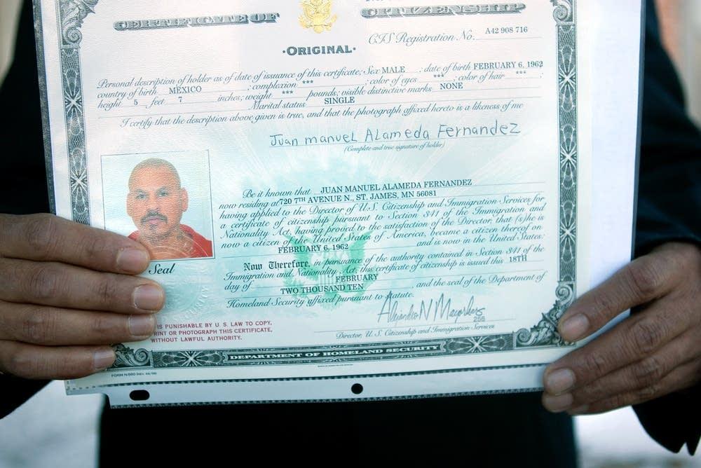 Certificate Naturalizatrion
