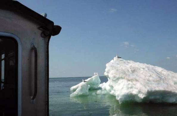 Lake Superior iceberg in June