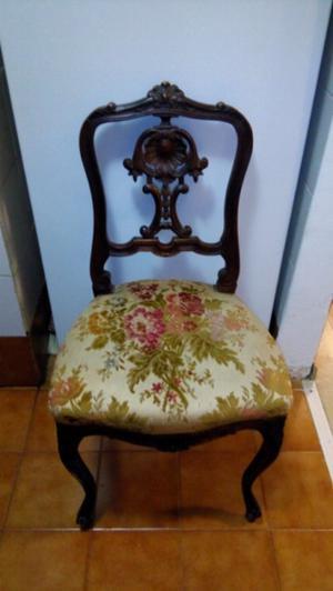 Silla francesa luis xv vintage restaurada tapizado  Posot