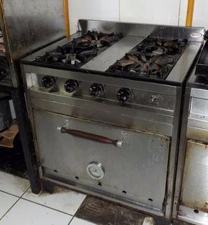 Cocina industrial familiar 4 hornallas enfrio  Posot Class