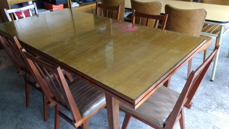Juego comedor cao y madera mesa 6 sillas  Posot Class